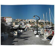 Samos Island port #photography Poster