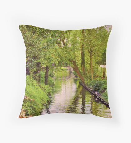 Brugge Waterway Throw Pillow