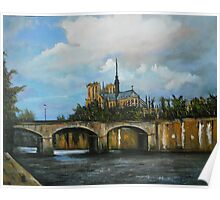 Nortre Dame Cathedral on the Seine Poster
