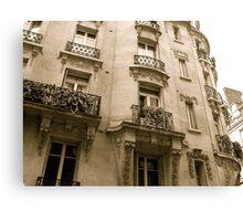 parisian facade Canvas Print