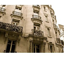 parisian facade Photographic Print