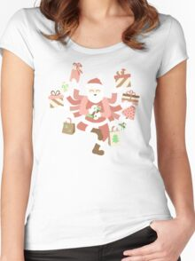 Dancing Mint Shiva Claus Women's Fitted Scoop T-Shirt