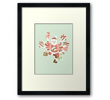 Dancing Mint Shiva Claus Framed Print