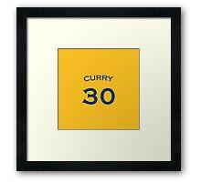 Curry #30 Framed Print