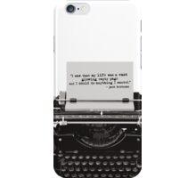 Optimistic Kerouac iPhone Case/Skin