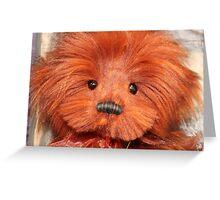 RED BEAR Greeting Card