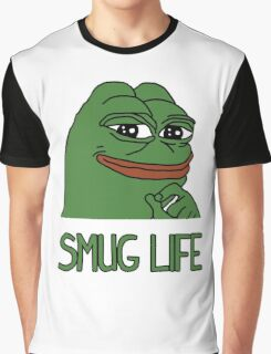 """PEPE FROG """"SMUG LIFE"""" SHIRTS + MORE Graphic T-Shirt"""
