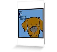 Lab (Chocolate) - The Dog Table Greeting Card