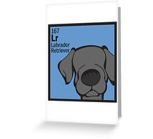 Lab (Black) - The Dog Table Greeting Card