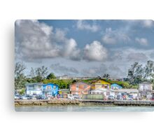 Fort Charlotte view from Arawak Cay in Nassau, The Bahamas Canvas Print