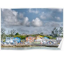 Fort Charlotte view from Arawak Cay in Nassau, The Bahamas Poster
