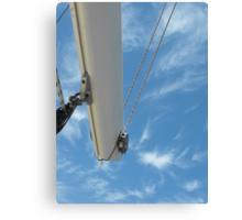 Sailboat mast in sky Canvas Print
