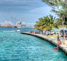 Atlantis view from Arawak Cay in Nassau, The Bahamas by Jeremy Lavender Photography