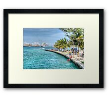 Atlantis view from Arawak Cay in Nassau, The Bahamas Framed Print