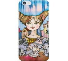 Young Lady with Kitten iPhone Case/Skin