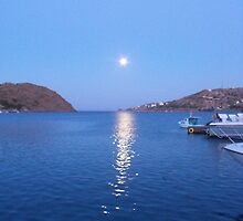 Full Moon in Patmos by SlavicaB