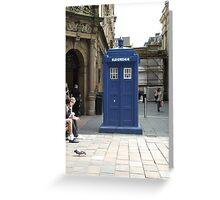 A TARDIS in Glasgow?  Greeting Card