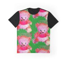Pink Tddy Bear with Lime. Graphic T-Shirt