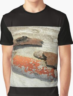 Bark with Lichen, Black Mountain, Canberra, A.C.T. Australia. Graphic T-Shirt