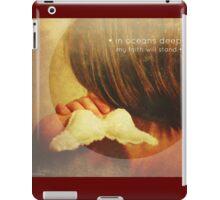 little bit about faith  iPad Case/Skin