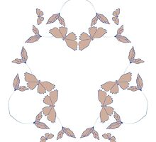 isolated butterfly floral pattern by LonaBon
