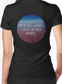 And In That Moment, I Swear We Were Infinite Women's Fitted V-Neck T-Shirt