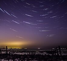 Star Trails on the Swale by Ian Hufton