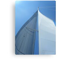 Part of sailboat sail perspective 2 #photography Canvas Print