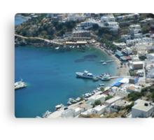Greek Island Harbor 3 Canvas Print
