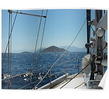 Sailing in the Greek Islands Poster