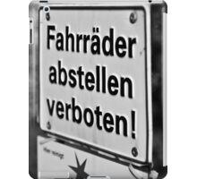 Bicycle Parking Forbidden iPad Case/Skin