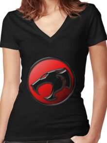 Thundercats Logo Women's Fitted V-Neck T-Shirt
