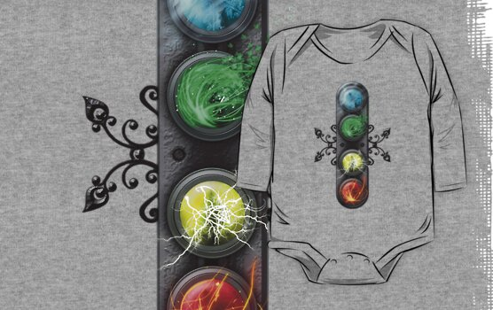 "Final Fantasy - Materia "" Elements"" Baby Tee/Onesie by Reverendryu"