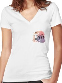 taylor swift 1989 watercolor  Women's Fitted V-Neck T-Shirt