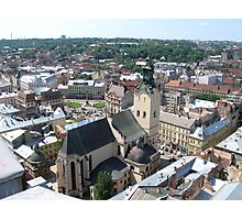 lviv from above Photographic Print