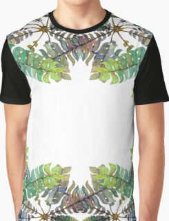 Colorful fern ornament Graphic T-Shirt