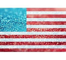 Red, White, and Glitter Photographic Print