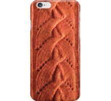 Alata knitted lace cable iPhone Case/Skin