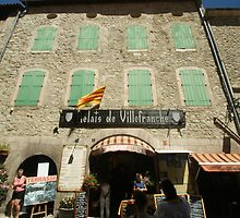 Signs of Villefranche-de-Conflet, France by Allen Lucas