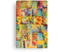 COLORFUL INDECISION 1 - Bold Bright Beautiful Abstract Acrylic Painting Collection Nature Rainbow Canvas Print