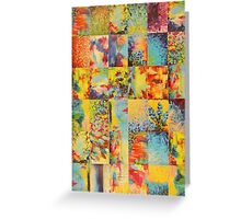 COLORFUL INDECISION 1 - Bold Bright Beautiful Abstract Acrylic Painting Collection Nature Rainbow Greeting Card