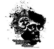 Terrance Mckenna Head Ohm Explosion by Dark Threads