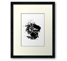 Terrance Mckenna Head Ohm Explosion Framed Print
