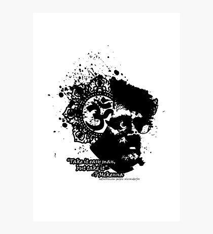 Terrance Mckenna Head Ohm Explosion Photographic Print