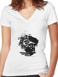 Terrance Mckenna Head Ohm Explosion Women's Fitted V-Neck T-Shirt
