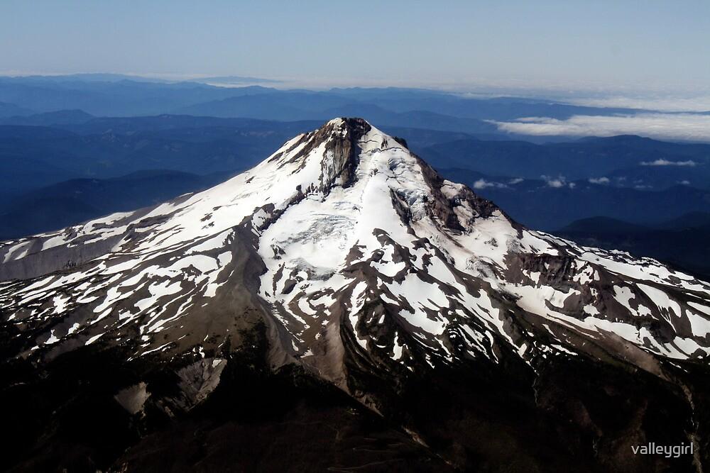 Aerial View of Mt. Hood by valleygirl