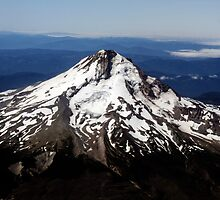 Aerial View of Mt. Hood by valleygirl