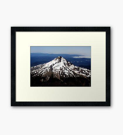 Aerial View of Mt. Hood Framed Print