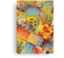 COLORFUL INDECISION 3 - Wild Vivid Rainbow Abstract Acrylic Painting Mixed Pattern Pretty Art Gift  Canvas Print
