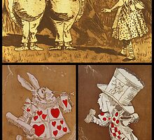 Alice Series -Etchings collage by Denise Martin